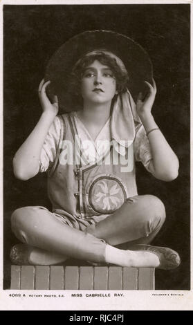 Miss Gabrielle Ray (1883-1973), British Actress, Dancer and Singer. One of the most photographed women in the world in the early decades of the 20th century. - Stock Image