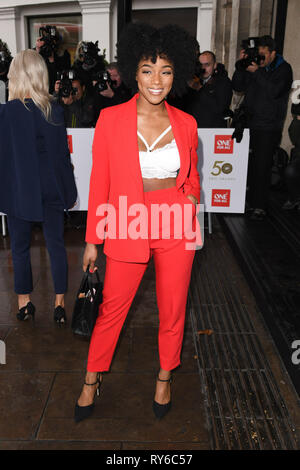 London, UK. 12th Mar, 2019. LONDON, UK. March 12, 2019: Rachel Adedeji arriving for the TRIC Awards 2019 at the Grosvenor House Hotel, London. Picture: Steve Vas/Featureflash Credit: Paul Smith/Alamy Live News - Stock Image