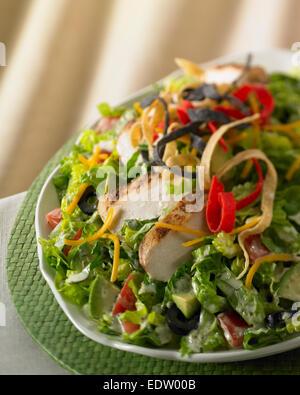 Chicken salad close up - Stock Image