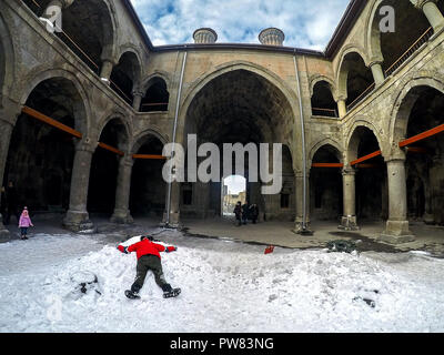 Cite Minareli Medrese. Erzurum. Turkey - Stock Image
