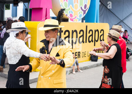 Dancing 'el danzon', every sunday in Iztapalapa, CDMX. Mexico City - Stock Image