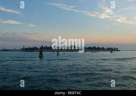 St Michele Island at Dawn in Venice - Stock Image