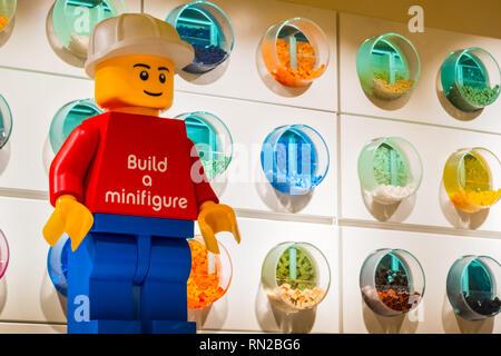 Lego Store background - Stock Image