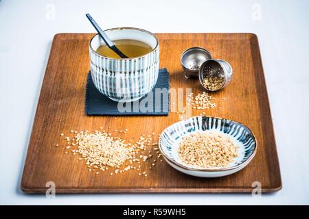 Buckwheat infusion. - Stock Image
