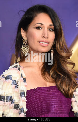 London, UK. 09th May, 2019. LONDON, UK. May 09, 2019: Preeya Kalidis at the 'Aladdin' premiere at the Odeon Luxe, Leicester Square, London. Picture: Steve Vas/Featureflash Credit: Paul Smith/Alamy Live News - Stock Image