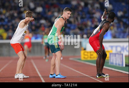 YOKOHAMA, JAPAN - MAY 11: Pieter Conradie of South Africa during day 1 of the IAAF World Relays at Nissan Stadium on May 11, 2019 in Yokohama, Japan. (Photo by Roger Sedres/Gallo Images) - Stock Image