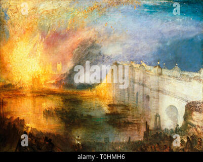 JMW Turner, The Burning of the Houses of Lords and Commons, painting, c. 1834 - Stock Image