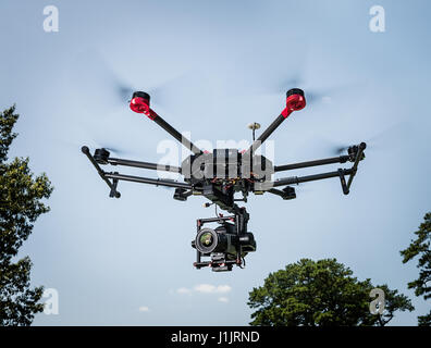 DJI Matrice 600 flying - Stock Image