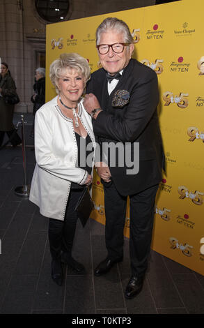 Celebs attend gala evening for Dolly Parton's 9 to 5 The Musical  Featuring: Gloria Hunniford Where: London, United Kingdom When: 17 Feb 2019 Credit: Phil Lewis/WENN.com - Stock Image