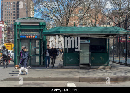 New York, NY, USA 5 April 2018 - One of the oldest newsstands in Manhattan closed earlier this year. ©Stacy Walsh Rosenstock - Stock Image