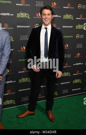 Sydney, Australia. 12th July 2019. Jack and the Beanstalk Giant 3D musical spectacular red carpet at the State Theatre. Pictured: Jimmy Rees. Credit: Richard Milnes/Alamy Live News - Stock Image
