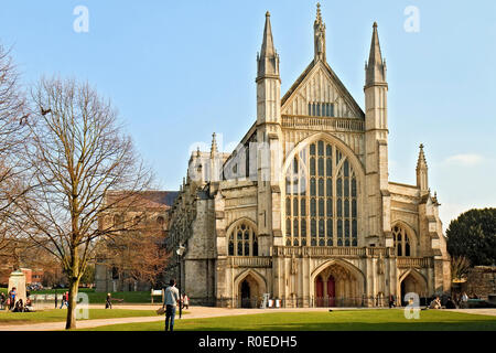 UK Winchester The Cathedral - Stock Image