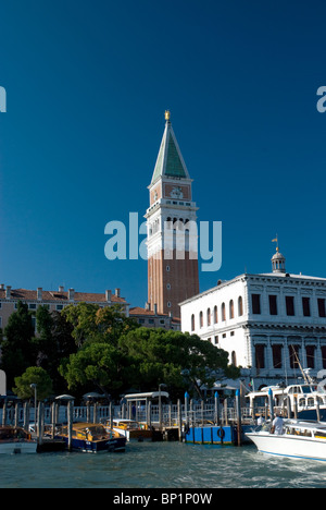 Campanile di San Marco or Bell Tower, St Marks, Venice Italy - Stock Image