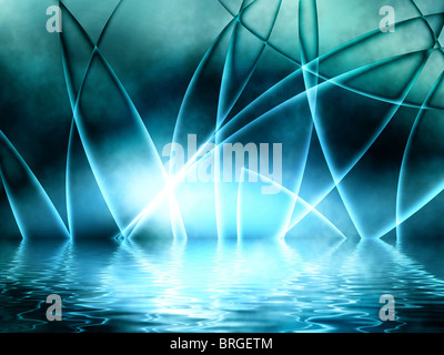 Blue Abstract Background - Stock Image
