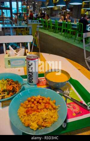 Vegetarian meal, Obed Bufet, self service restaurant, Novy Arbat, Moscow, Russia - Stock Image