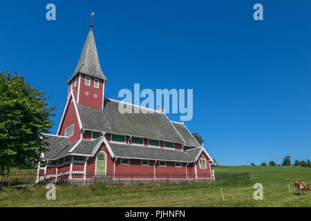Contemporary church in Eidsbygda, Norway. - Stock Image