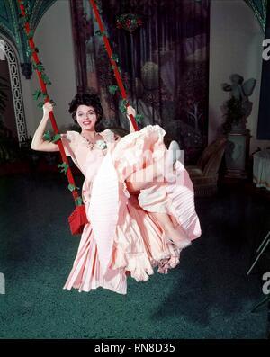 THE GIRL IN THE RED VELVET SWING, JOAN COLLINS, 1955 - Stock Image