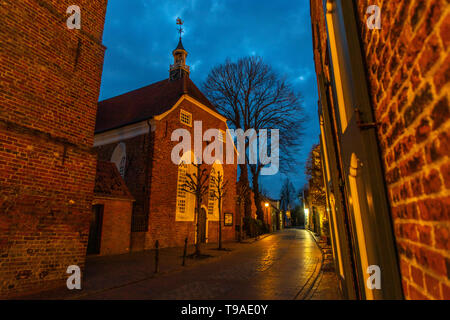 Greetsiel village, municipality Krummhšrn, Historical old town,  East Frisia, Lower Saxony, Germany, - Stock Image