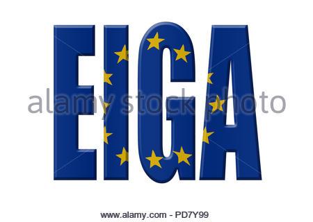 Digital Illustration - EU agency. EIGA European Institute for Gender Equality, Europäisches Institut für Gleichstellungsfragen, Europees Instituut voo - Stock Image