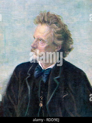 EDVARD GRIEG (1843-1907) Norwegian composer about 1888 - Stock Image
