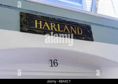 Ward 16 (Harland) at the oldVictorian corridor, Royal Victoria Hospital, Belfast. - Stock Image