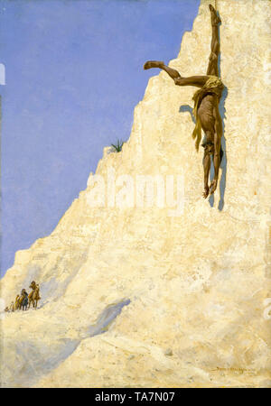 Frederic Remington, The Transgressor, painting, 1891 - Stock Image