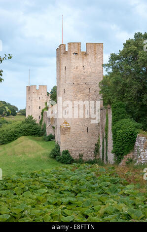Visby Ancient  City Wall - Stock Image