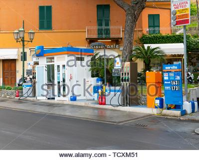 Fuel Station,  Santa Margherita Ligure - Stock Image