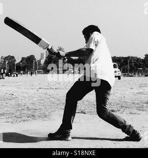 Batsman, Kathmandu, 2017 - Stock Image