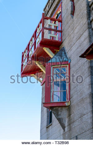 Detail of an old building in downtown St Augustine, Florida, USA - Stock Image