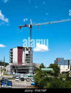 Gosford, New South Wales, Australia - February 6. 2018: Construction progress update 73 on new home units building site at 47 Beane St. - Stock Image