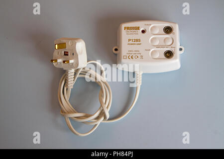 Tv signal amplifier and phantom power supply - Stock Image