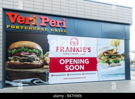 Frankie's Veri Peri Portuguese Grill opening soon in Bradford, West Yorkshire, UK - Stock Image