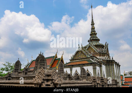 Emerald Temple in the Grand Palace in Bangkok, Thailand - Stock Image