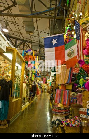 San Antonio Historic Market Square el mercado mexican marketplace - Stock Image