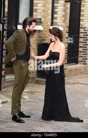 LONDON, UK. April 28, 2019: Emmett J Scanlan & Claire Cooper at the BAFTA Craft Awards 2019, The Brewery, London. Picture: Steve Vas/Featureflash - Stock Image