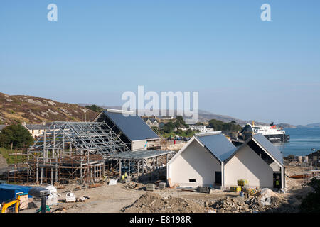 New whiskey distillery under construction in Tarbert on the Isle of Harris by Isle of Harris distillery Ltd. - Stock Image