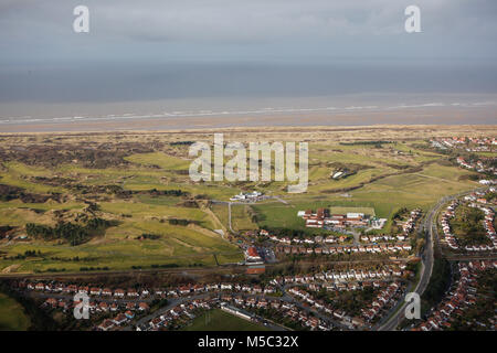 An aerial view of Royal Birkdale Golf Course, Southport, North West England - Stock Image