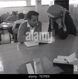 1960s, student in class, Saudi Arabia - Stock Image