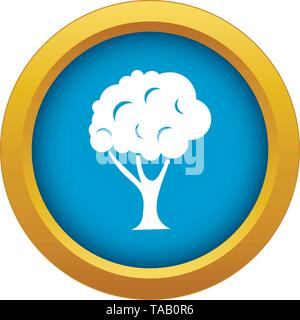 Tree icon blue vector isolated - Stock Image