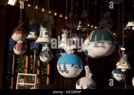 Christmas tree decorations - Stock Image