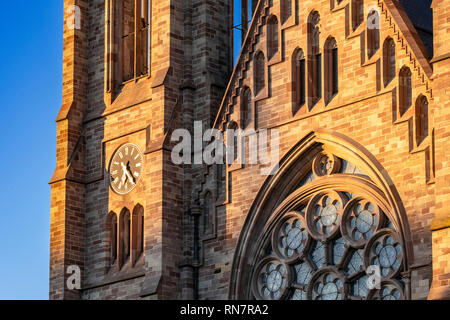 Strasbourg, Alsace, France, St Paul protestant church, Neustadt district, late afternoon light, - Stock Image
