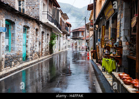 Lagkadia is a mountain village in Arcadia, Peloponnese, Greece. - Stock Image