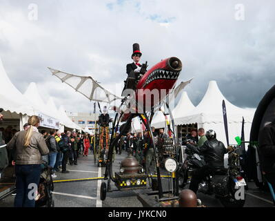 Hamburg Harley Days Biker-City-Event Abacus Theater Walk Acts Time Cruiser Germany - Stock Image