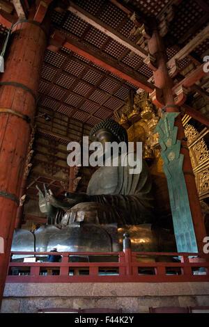 Daibutsu Buddha statue in Nara side - Stock Image