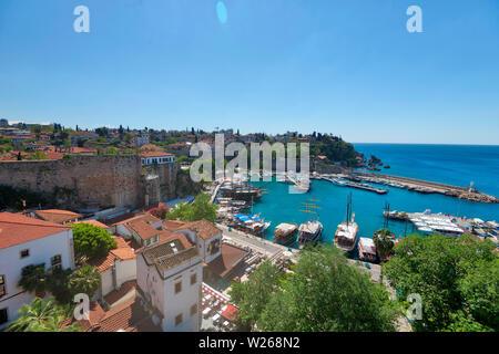 Antalya Harbor, Turkey, taken in April 2019rn' taken in hdr - Stock Image