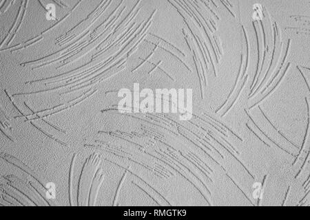 Textured wallpaper showing the texture and pattern in black and white - Stock Image