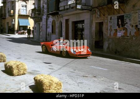 1970 Lo Piccolo Italian Ferrari Dino 206S Targa Florio 11th - Stock Image