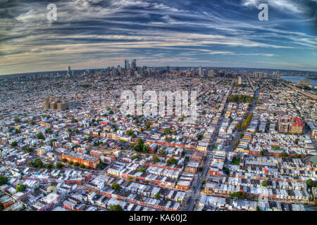 Aerial View Of Philadelphia PA - Stock Image