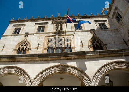 sponza palace, old city of dubrovnik, croatia - Stock Image